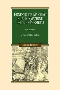 Ernesto de Martino e la formazione del suo pensiero