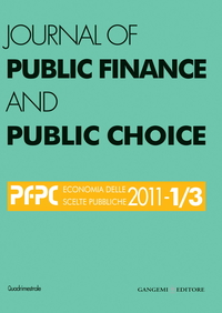 Journal of Public Finance and Public Choice n. 1-3/2011
