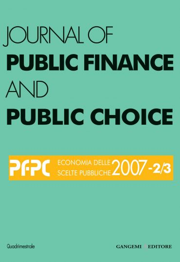 Journal of public Finance and Public Choice n. 2-3/2007