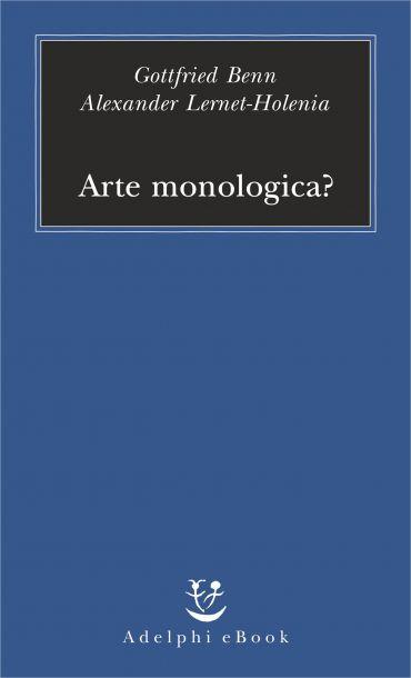 Arte monologica? ePub