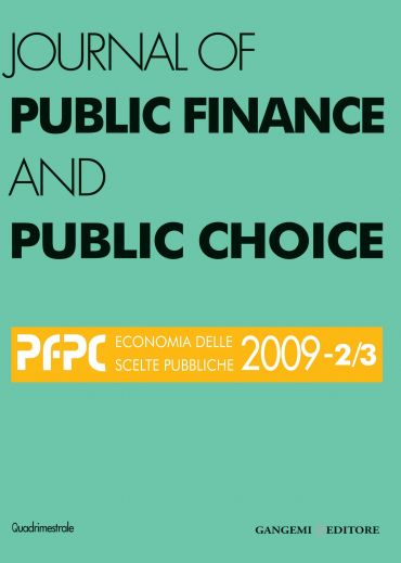 Journal of Public Finance and Public Choice n. 2-3/2009