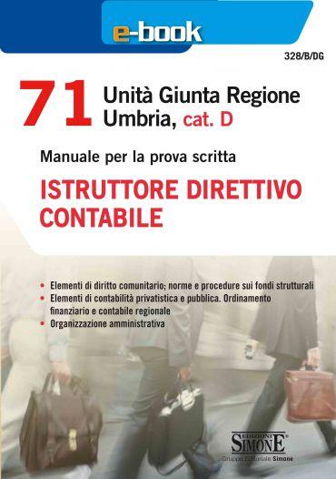 71 Unità Giunta Regionale Umbria, cat. D - Istruttore direttivo