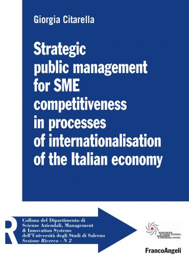 Strategic public management for SME competitiveness in processes