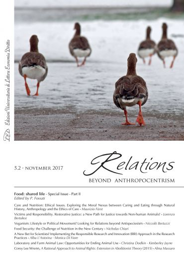 Relations. Beyond Anthropocentrism. Vol. 5, No. 2 (2017). Food: