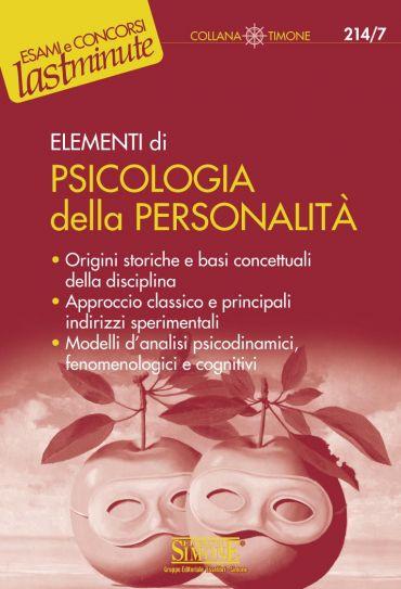 Elementi di Psicologia della Personalità