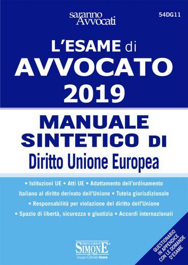 Esame di Avvocato 2019 - Manuale sintetico di Diritto Unione Eur