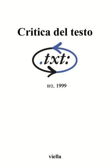 Critica del testo (1999) Vol. 2/2