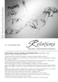 Relations. Beyond Anthropocentrism. Vol. 4, No. 2 (2016). Past t