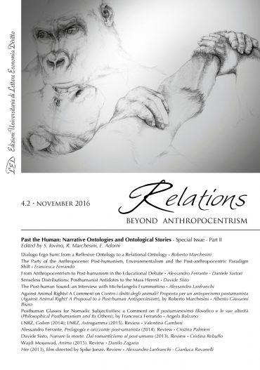 Relations. Beyond Anthropocentrism. Vol. 4, No. 2 (2016). Past t