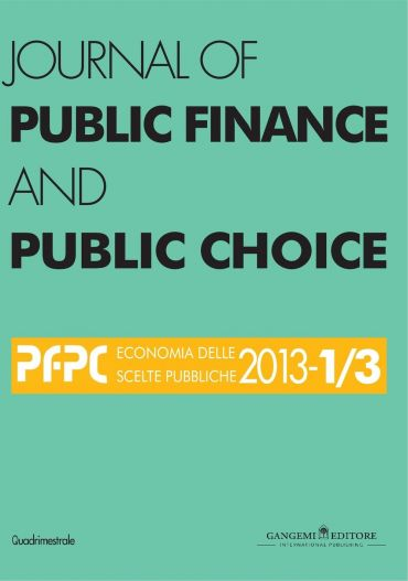 Journal of Public Finance and Public Choice n. 1-3/2013
