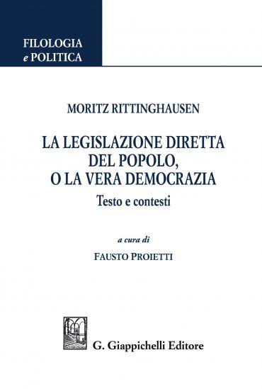 Moritz Rittinghausen. La legislazione diretta del popolo, o la v