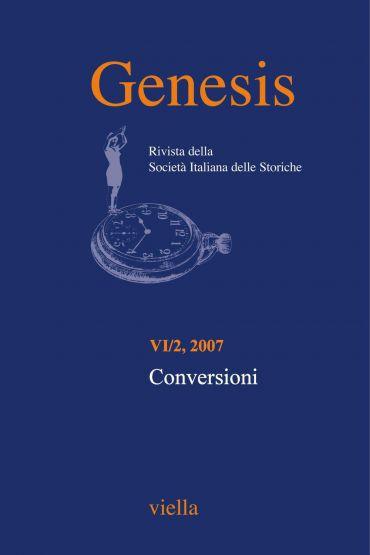 Genesis. Rivista della Società italiana delle storiche (2007) Vo