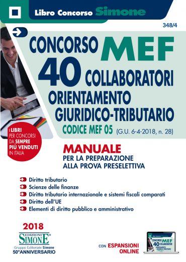Concorso MEF - 40 Collaboratori Orientamento Giuridico Tributari