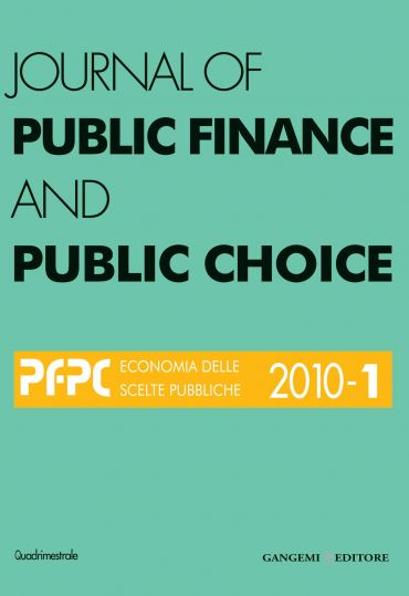 Journal of Public Finance and Public Choice n. 1/2010
