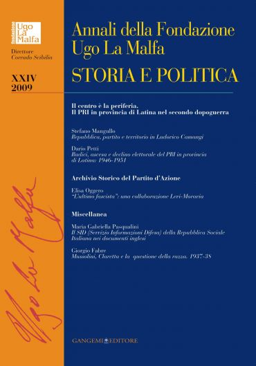 Annali della Fondazione Ugo La Malfa XXIV-2009
