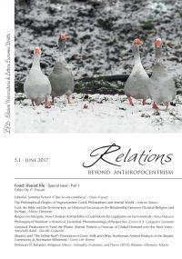 Relations. Beyond Anthropocentrism. Vol. 5, No. 1 (2017). Food: