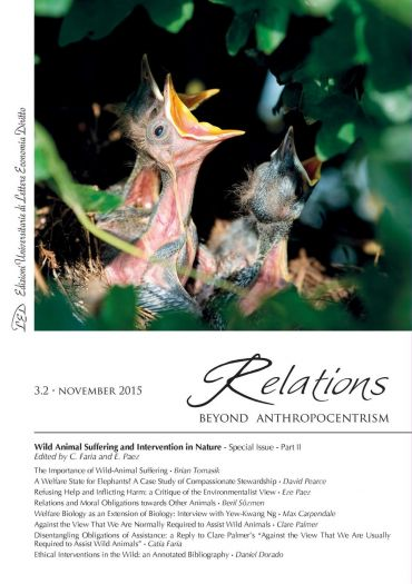 Relations. Beyond Anthropocentrism, 3.2 - November 2015