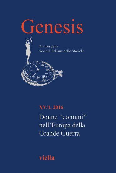 Genesis. Rivista della Società italiana delle storiche (2016) Vo