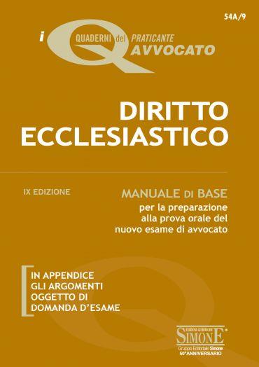 I Quaderni dell'Aspirante Avvocato - Diritto Ecclesiastico