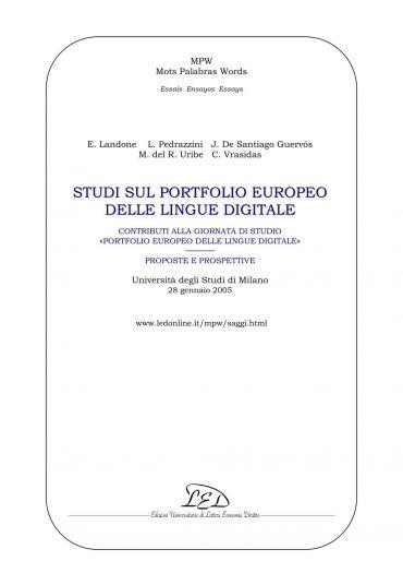Studi sul portfolio europeo delle lingue digitale