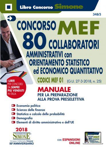 Concorso MEF - 80 Collaboratori Orientamento Statistico-Economic