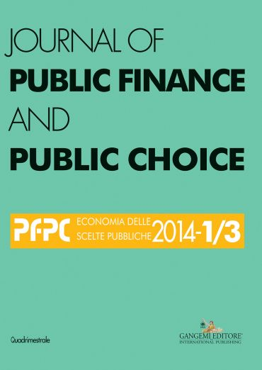 Journal of Public Finance and Public Choice n. 1-3/2014