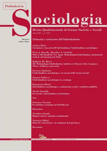 Individualismo metodologico, cambiamento sociale e politiche pub
