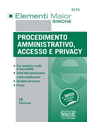 Procedimento Amministrativo, Accesso e Privacy ePub