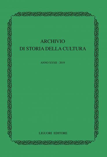 Archivio di storia della cultura. Anno XXXII - 2019