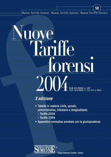 Nuove Tariffe forensi 2004
