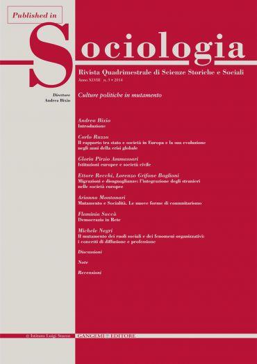 Il rapporto tra stato e società in Europa e la sua evoluzione ne