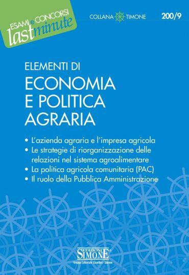 Elementi di Economia e Politica Agraria