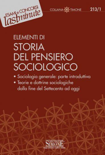 Elementi di Storia del Pensiero Sociologico