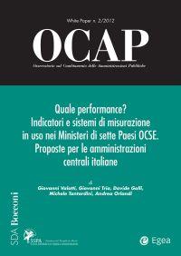 OCAP 2.2012 - Quale performance? Indicatori e sistemi di misuraz