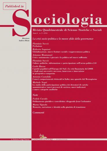 Crisi e mutamento: i giovani e la politica nel nuovo millennio e