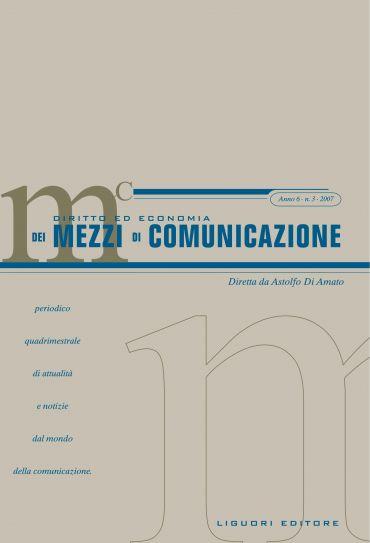 Diritto ed economia dei mezzi di comunicazione