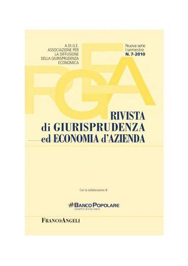 Rivista di Giurisprudenza ed Economia d'Azienda N. 7/2010