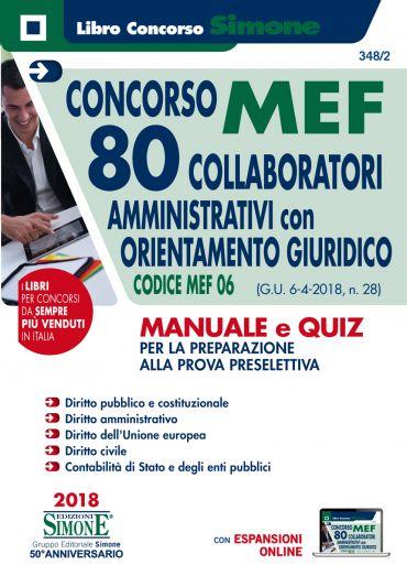 Concorso MEF - 80 Collaboratori Amministrativi con orientamento