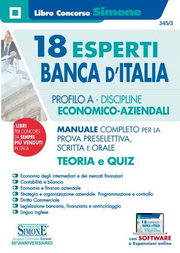 18 Esperti Banca d'Italia - Profilo A - Discipline Economico-Azi