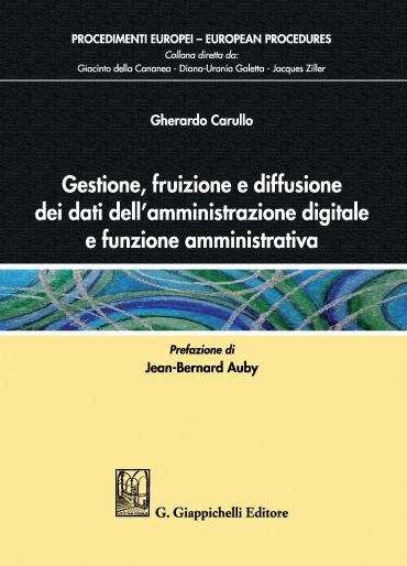 Gestione, fruizione e diffusione dei dati dell'amministrazione d