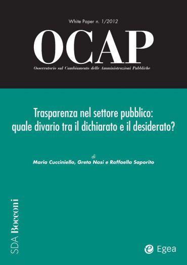 OCAP 1.2012 - Trasparenza nel settore pubblico