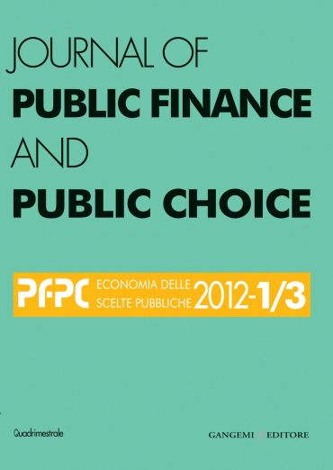 Journal of Public Finance and Public Choice n. 1-3/2012