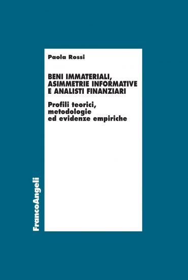 Beni immateriali, asimmetrie informative e analisti finanziari