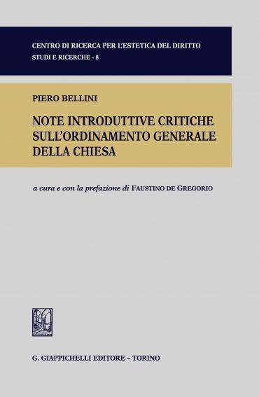Note introduttive critiche sull'ordinamento generale della Chies