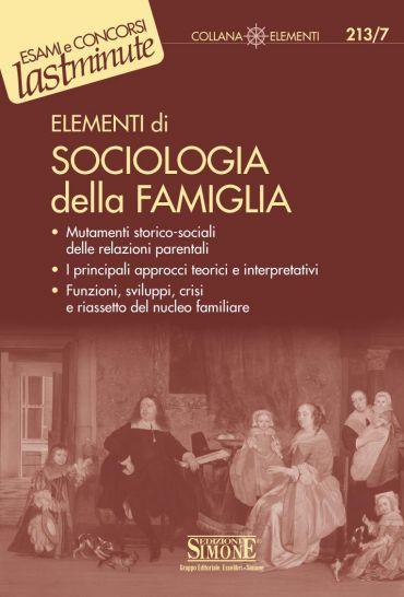 Elementi di Sociologia della Famiglia