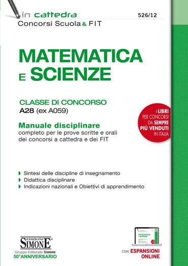 Matematica e Scienze - Classe di concorso A28 (ex A059)