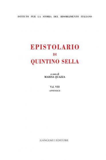 Epistolario di Quintino Sella