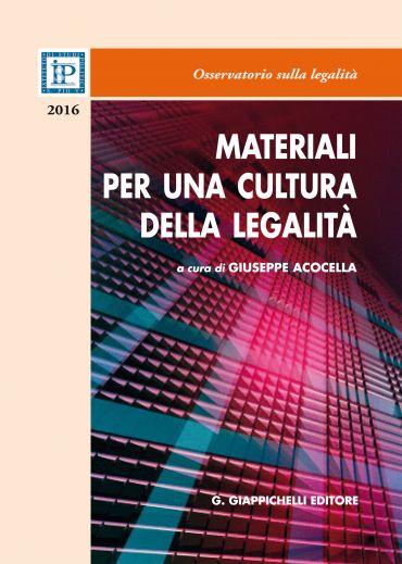 Materiali per una cultura della legalità ePub