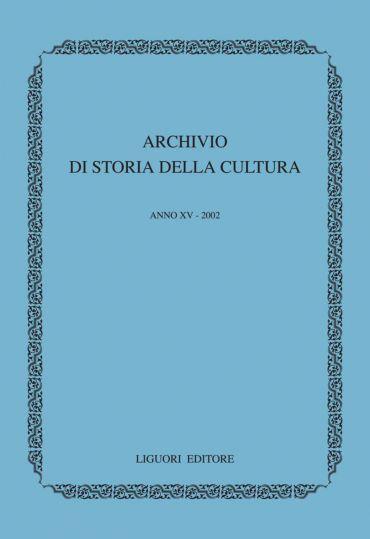 Archivio di storia della cultura