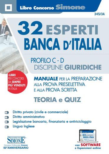 32 Esperti Banca d'Italia - Profili C e D - Discipline giuridich